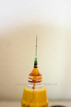 Monodosis de Betadine con aguja de jeringa