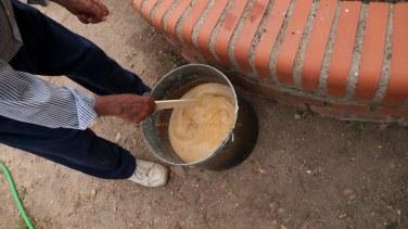 Jabon Casero mezclando